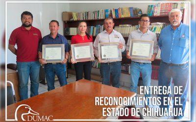 Entrega de reconocimientos a colaboradores del proyecto de conservación de las Lagunas de Mexicanos y Bustillos.