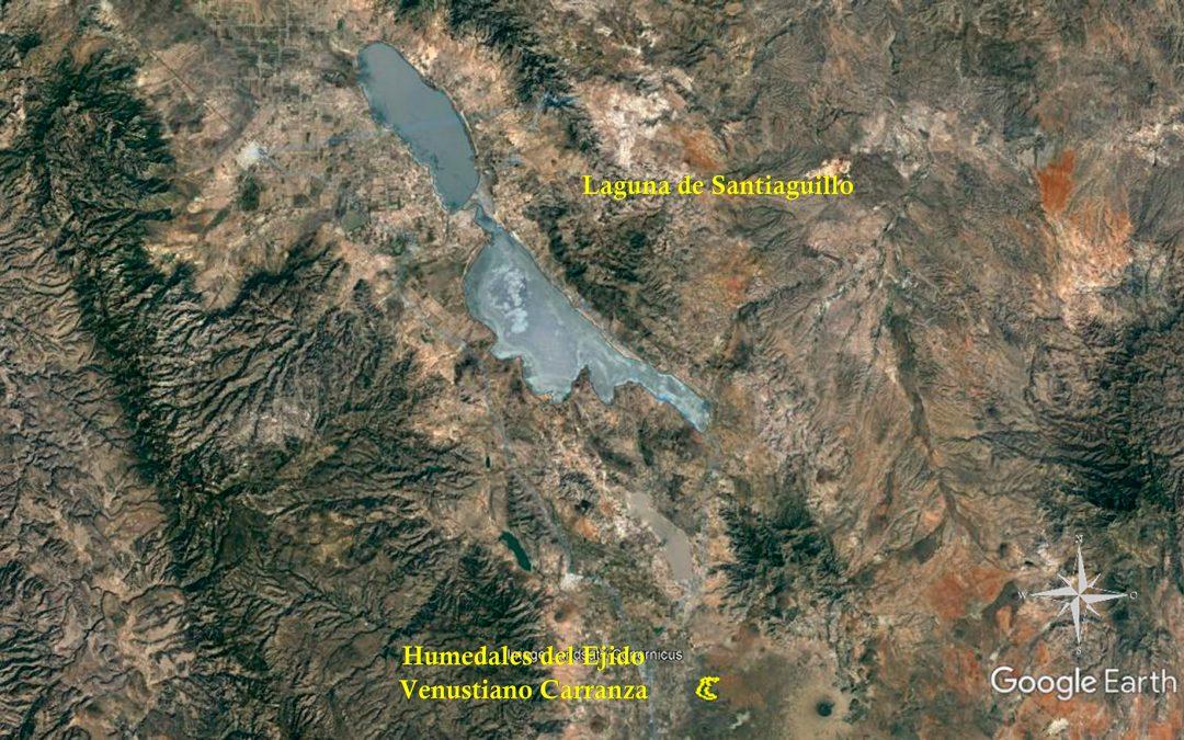 DUMAC realiza recorrido de reconocimiento por los humedales del Ejido Venustiano Carranza en Durango, para la planeación de acciones de mejoramiento.